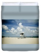 A Fine Day At The Beach Duvet Cover