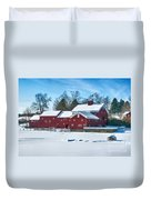 A Fine Winter Day Duvet Cover