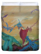 A Flight Of Dragons Duvet Cover