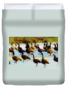 A Flock Of Geese Duvet Cover
