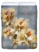 A Flourishing Cherry Branch Duvet Cover