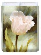 One Beautiful Flower Impressionism Duvet Cover