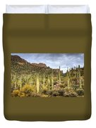 A Forest Of Saguaros  Duvet Cover