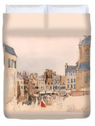 A French Market Place Duvet Cover