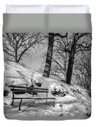 A Frigid Moment Duvet Cover