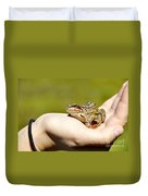 A Frog In The Hand Duvet Cover