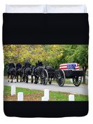 A Funeral In Arlington Duvet Cover
