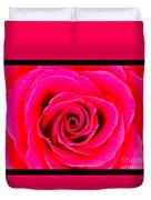 A Fuschia Pink Rose Duvet Cover