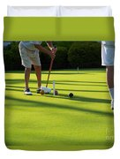 A Game Of Croquet Duvet Cover