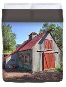 A Garden Barn Duvet Cover