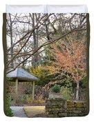A Garden Walk In February Duvet Cover