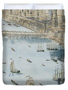 A General View Of The City Of London And The River Thames Duvet Cover