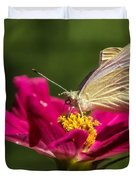 A Georgous Butterfly Macrophotography Duvet Cover