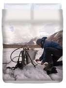 A Glaciologist Tinkers With A Steam Duvet Cover