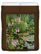 A Glimpse Of Monet's Pond At Giverny Duvet Cover