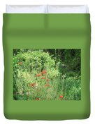 A Glimpse Of Poppies Duvet Cover