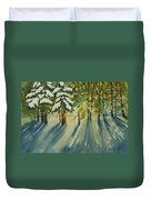 A Glow In The Forest Duvet Cover