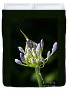 A Glow On Agapanthus Duvet Cover