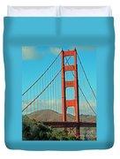 A Golden Gate View Duvet Cover
