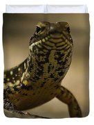 A Golden Skink Duvet Cover