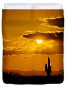 A Golden Southwest Sunset  Duvet Cover