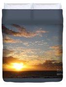 A Golden Sunrise - Singer Island Duvet Cover