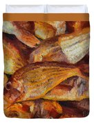 A Good Catch Of Fish Duvet Cover