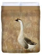 A Goose Is A Goose Duvet Cover by Betty LaRue