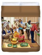 A Grandma And Grandpop Christmas Duvet Cover