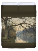 A Great Tree On A Riverbank Duvet Cover