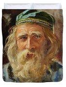 a Greek Portrait Duvet Cover