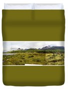 A Group Of Hikers Walk Duvet Cover