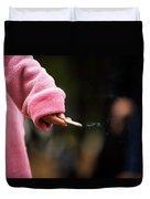 A Hand Holding A Cigarette Duvet Cover