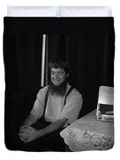 A Happy Amish Guy Duvet Cover