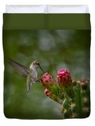 A Happy Little Hummer  Duvet Cover