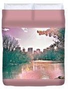 A Haze Over Central Park Duvet Cover