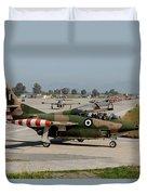 A Hellenic Air Force T-2 Buckeye Duvet Cover