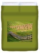 A Herd Of Hay Bales Duvet Cover