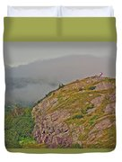 A High Point On Signal Hill National Historic Site In Saint John's-nl Duvet Cover