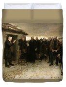 A Highland Funeral Duvet Cover
