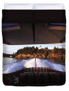 A Hinckley Picnic Boat Travels Duvet Cover