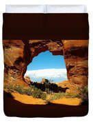 A Hole New World Duvet Cover