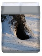 A Hollow In A Tree In Winter Duvet Cover