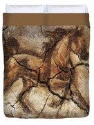 A Horse - Cave Art Duvet Cover
