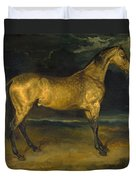 A Horse Frightened By Lightning Duvet Cover