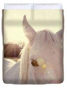 A Horse's Eyes Duvet Cover