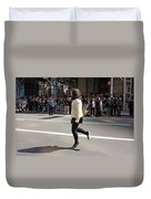A Irish Dancer Doing Some Dancing At The 2009 St. Patrick Day Parade Duvet Cover