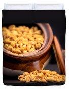 A Jar Of Peanuts Duvet Cover