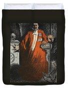 A Judge In Full Garments, Illustration Duvet Cover