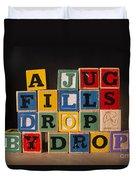 A Jug Fills Drop By Drop Duvet Cover